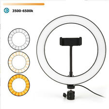 Dimming LED Selfie Ring Light Photography Live Video Studio Phone Fill Lamp Set