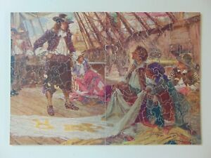 Vintage Wooden Pastime Parker Brothers Jigsaw Puzzle, 304 pieces, Figurals