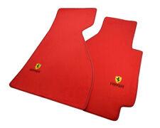 Floor Mats For Ferrari 328 GTB 1985-1989 Red Tailored Carpets Ferrari Emblem NEW