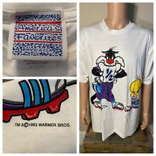 Vintage 1993 Sylvester Cat Tweety Bird T-Shirt xl FOOTBALL nfl Deadstock size XL