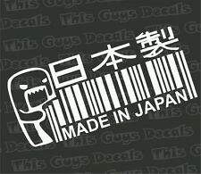 Domo made in Japan decal jdm vinyl turbo race  window car stickers boost illest