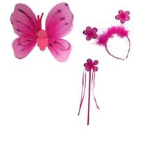 Fiore Principessa Fata BACCHETTA Wings BOPPER Set Glitter Costume nastri Sparkle