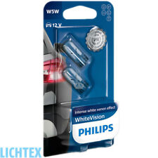 W5w/t10 Philips whitevision 3700k Xenon-efecto faros lámpara Duo-Pack-Box