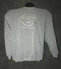Vintage Hard Rock Cafe Montreal Canada Size XL Heather Gray Sweatshirt