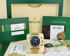 ROLEX - UNWORN 18kt Gold & Stainless DAYTONA Blue Index CARD 116523 - SANT BLANC