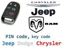 Elektronischer Code, PIN-Codes und Key Code für Jeep Chrysler Dodge