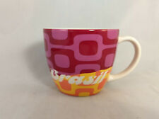 Starbucks Brasil (Brazil) Mug - Mod Pink/Purple and Coral/Yellow - 2012