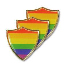 Gay Pride Rainbow Shield Badge