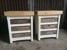 Pine Handmade 61cm-65cm Height Bedside Tables & Cabinets