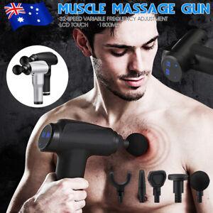 Massage Gun Electric Massager Vibration Muscle Therapy 5 Heads Percussion Tissue