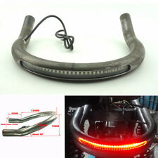 Cafe Racer Seat Frame Hoop Loop w/ LED Brake Turn Tail Light For Honda CB Yamaha