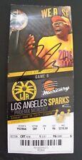 DIANA TAURASI Mercury WNBA All-Time Scoring Leader 6/18/17 Signed Ticket Stub