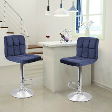 New listing Set Of 2 Extra Comfort Bar Stool Back Support Adjustable Swivel Di 00006000 ning Pub Chair