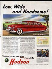 1948 HUDSON COMMODORE & U.S.ARMY ADS -- AMBASSADOR of PEACE