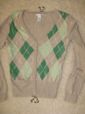 H&M Damen  Pulli, Strickpulli, Gr. XS 34/36,grün-beige. NEUWERTIG!!!!!