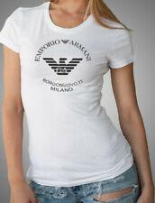 EMPORIO ARMANI White ladies Designer T-shirt Borgonuovo,11 Size S, M - womens