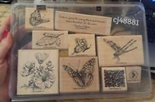 ON GOSSAMER WINGS Stampin Up wm Stamp Set NATURE Quote Butterfly Flower Leaf