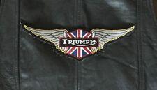 Triumph Patch Union Backpatch XXL 26,5x8,3cm Kutte MC Biker England Vintage Neu
