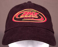 RHS Rice Honda Suzuki Hat-Rapid City SD-Strapback-Black-Cotton-Metal Eyelets-Vtg