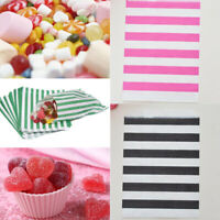 12Pcs Striped Wave Candy Paper Bag Wedding Party Cake Shop Buffet Packing Supply