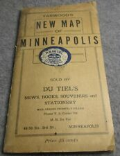 New ListingAntique Vintage Original Minneapolis Minnesota map 1915
