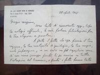 1948 LETTERA AUTOGRAFA DEL GRANDE GIURISTA GENOVESE LAZZARO MARIA DE BERNARDIS