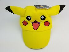 New Pokemon Pikachu Deluxe yellow baseball style hat Kids / Youth Stretch Fit