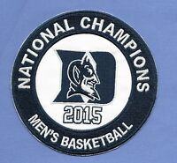 """New' 2015 Duke National Champions 5""""  Iron on Patch Free Shipping Blue Devils"""