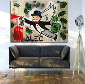 "YA1490 Alec Monopoly graffiti art oil painting The Angel Hand-painted 36"""