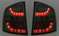 ALL SMOKED LED REAR TAIL LIGHTS LAMPS FOR SKODA OCTAVIA 2 1Z ESTATE 1/05-12/2012