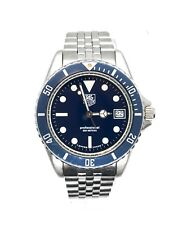 TAG HEUER 1000 Professional Vintage Diver Watch 980.613b Blue Dial and Bezel