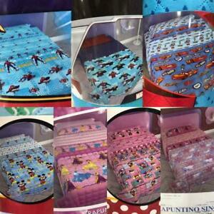 Couvre-Lit Courtepointe Spiderman Mickey Minnie Princess Frozen Cars Licorne
