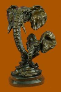 Elephant Mother & Baby Bronze Figurine Sculpture Statue Collector Edition Statue