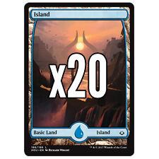 20 Hour of Devastation FULL ART Island #186 - MTG Basic Land Lot Magic