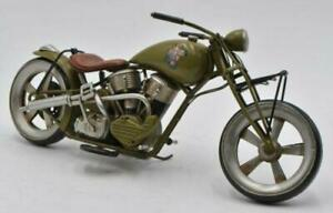 Handmade Light Green Medium Scale Tinplate Motorcycle Model Harley Davidson DEAL