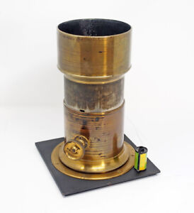 Charles C. Harrison NY Huge Wet Plate Lens Petzval 1862  MUSEUM QUALITY