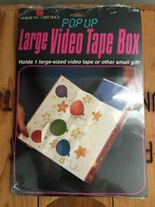 Vtg 80s 90s American Greetings Pop up Large Video Tape Box Gift Box Novelty NOS