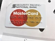 1 VINTAGE SECURITY PACIFIC BANK CREDIT CARD 1982-84 ON WELCOME PAPER UNUSED