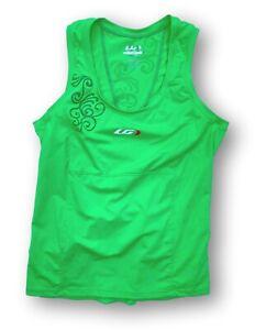 Louis Garneau Women's L Lite Skin Green Cycling Top Sleeveless Jersey