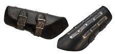 LeatherWorks Premium Black Leather Splinted Bracers 2 Arm Guards Armor LARP SALE