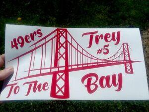 Trey To The Bay San Francisco 49ers Vinyl Decal Sticker Truck Car Window Wall