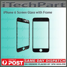 Screen Glass with Frame Replacement For iPhone 6 BLACK