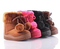 Cute Side Zipper Open Faux Fur  Booties Toddlers Kids Girls Winter Boots Shoes