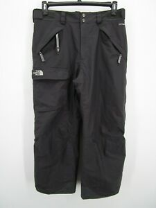 The North Face Mens Gray Waterproof HyVent Insulated Ski Snow Pants Size Medium