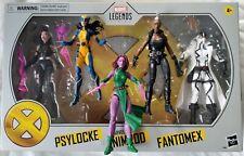 Marvel Legends X-MEN LOT Mohawk Storm | Nimrod Psylocke & Fantomex | Blink X-23