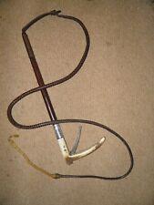 Antique Swaine-Adeney Gadget Hunt Whip With Hidden Wire Cutter & H/M Silver 1927