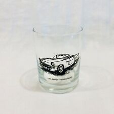 1955 Ford Thunderbird Whiskey Glass, On The Rocks / Liquor / Scotch Glass