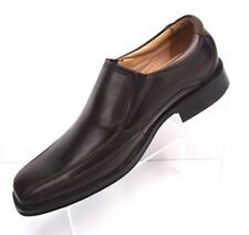 G H Bass & Co Mens Size 10.5M Slip On Loafer Shoes Brown Leather Bicycle Toe