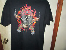 Pirate Skull Cross Pistols Swashbuckler T Shirt Sz Extra Large