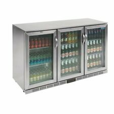 Polar G-Series Back Bar Cooler with Hinged Doors Stainless Steel 330Ltr 1350mm 3